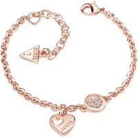 Ladies Guess Rose Gold Plated Heart Devotion Bracelet