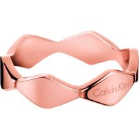 Ladies Calvin Klein PVD rose plating Size P Snake Ring