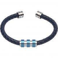 homme Unique & Co & Leather Bracelet Watch B285BLUE/21CM