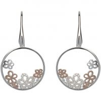 Ladies Unique Sterling Silver Floral Earrings ME-560