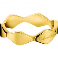 Ladies Calvin Klein PVD Gold plated Size P Snake Ring