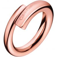 Damen Calvin Klein PVD Rosa plating Größe O Ring
