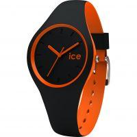 Damen Ice-Watch Duo Schwarz-Orange Uhr