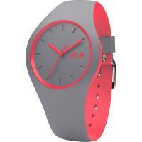 Unisex Ice-Watch Duo Grau-Korallenrot Uhr