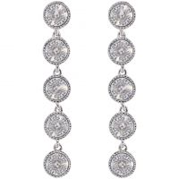 Ladies Ted Baker Silver Plated Rizza Rivoli Crystal Long Earring