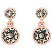 Ladies Karen Millen Rose Gold Plated Crystal Dot Earring KMJ879-24-23