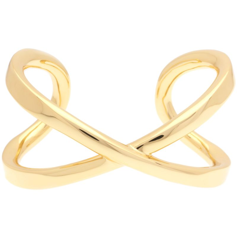 Ladies Karen Millen Gold Plated Criss-Cross Cuff Slim SM KMJ940-22-03SM