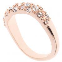 femme Karen Millen Jewellery Pave Crystal Wave Ring ML Watch KMJ950-24-02ML