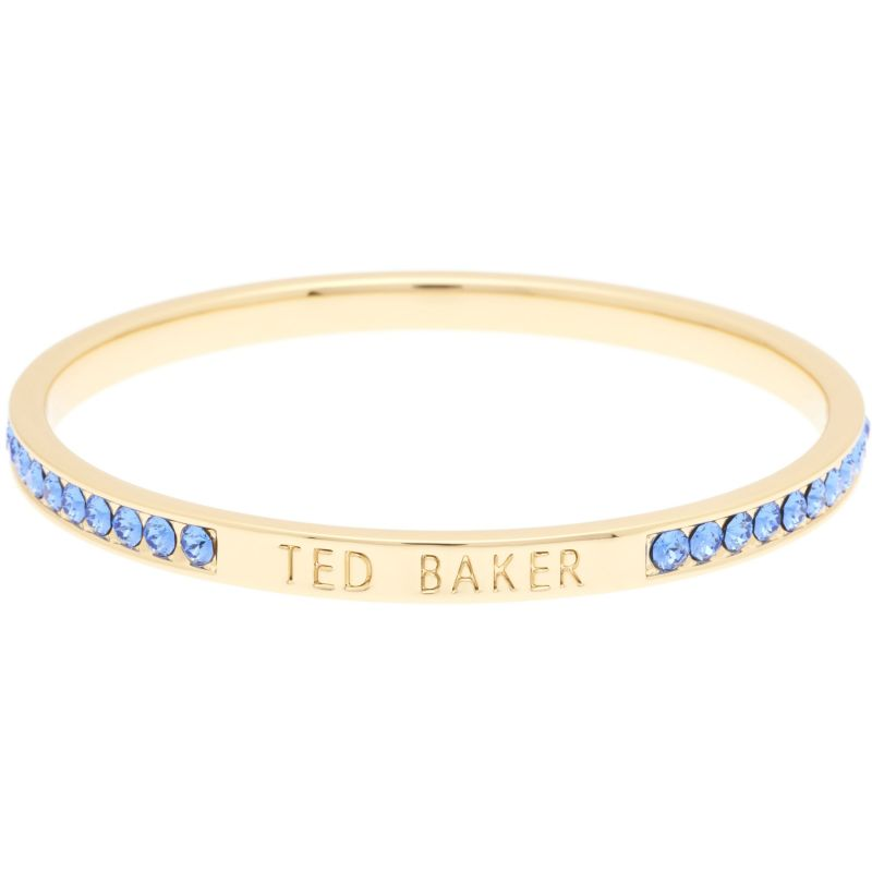 Ladies Ted Baker Gold Plated Clem Narrow Crystal Band Bangle TBJ1050-02-222