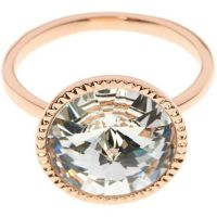Ladies Ted Baker Rose Gold Plated Rada Rivoli Crystal Ring ML TBJ1159-24-02ML
