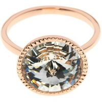 Ladies Ted Baker Rose Gold Plated Rada Rivoli Crystal Ring ML