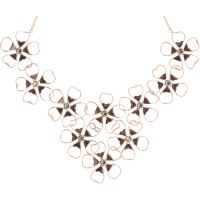 Ladies Ted Baker Gold Plated Linndy Enamel Flower Cluster Necklace