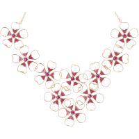 femme Ted Baker Jewellery Linndy Enamel Flower Cluster Necklace Watch TBJ1239-24-73