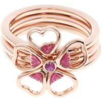 femme Ted Baker Jewellery Leotie Enamel Flower Stacking Ring ML Watch TBJ1243-24-73ML