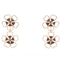 Ladies Ted Baker Gold Plated Lorel Enamel Flower Double Earring TBJ1244-24-23