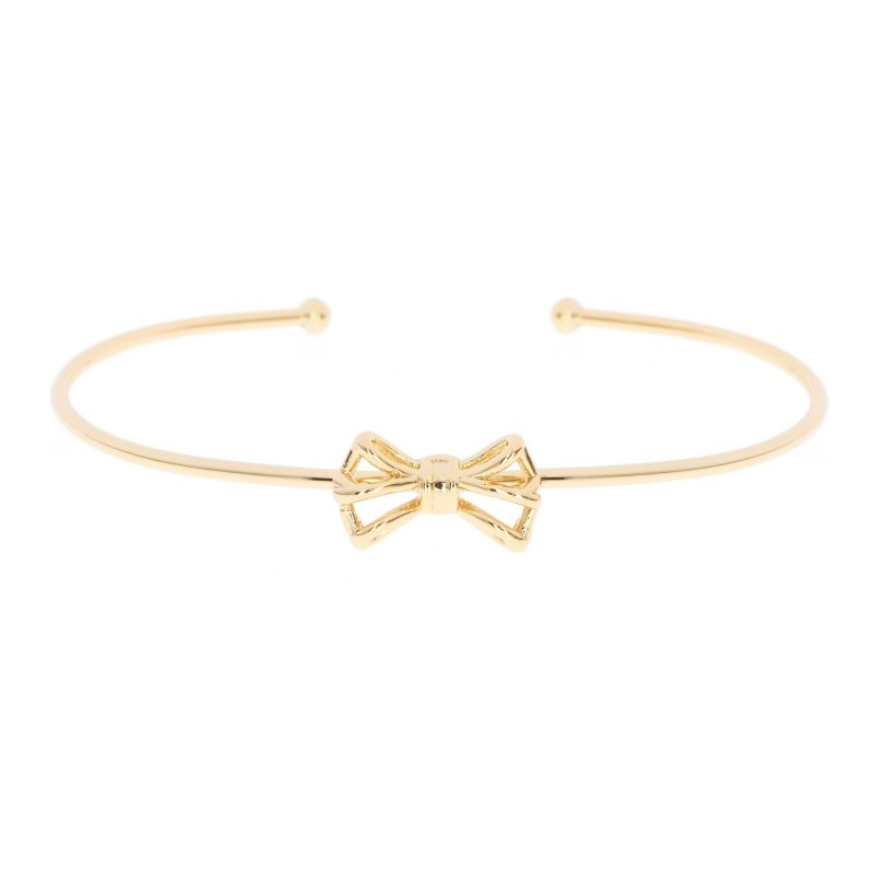 Ladies Ted Baker Gold Plated Graciaa Tiny Geometric Bow Ultrafine Cuff TBJ1246-02-03