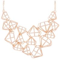 Ladies Ted Baker Rose Gold Plated Joni Gem Frame Cluster Necklace
