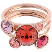 Ted Baker Dames Jackie Jewel Stack Ring ML Verguld Rose Goud TBJ462-24-199ML