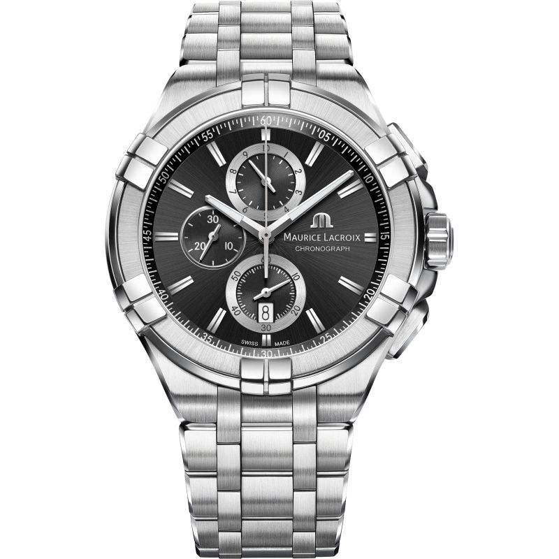 Mens Maurice Lacroix Aikon Chronograph Watch AI1018-SS002-330-1
