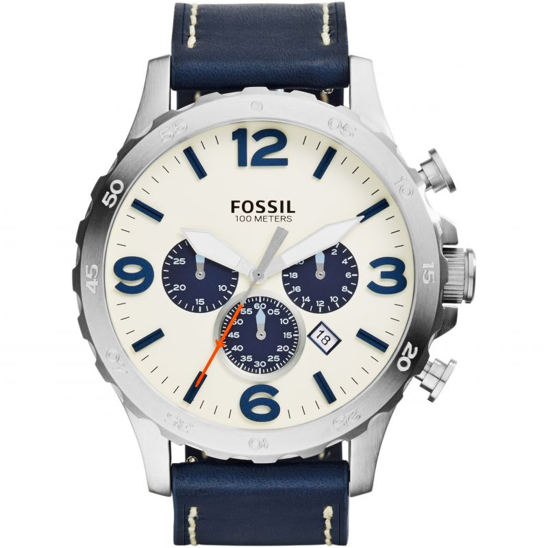 Mens Fossil Nate Chronograph Watch JR1480