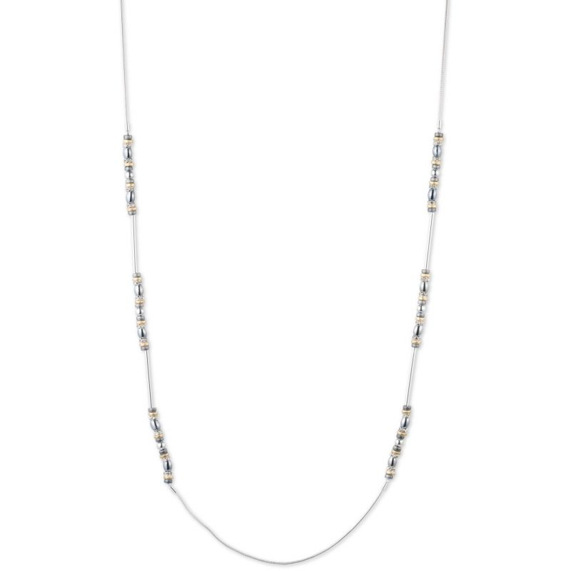 Ladies Nine West Silver Plated Metal Mingle 42 Inch Necklace 60441185-Z01