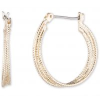 Ladies Nine West Gold Plated Heavy Metal Earrings