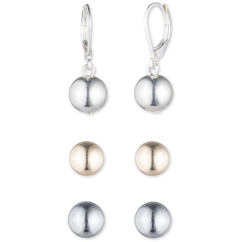 Ladies Nine West Two-tone steel/gold plate Swing Along Earrings 60441361-Z01