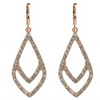 Ladies Anne Klein Rose Gold Plated Socialite Earrings