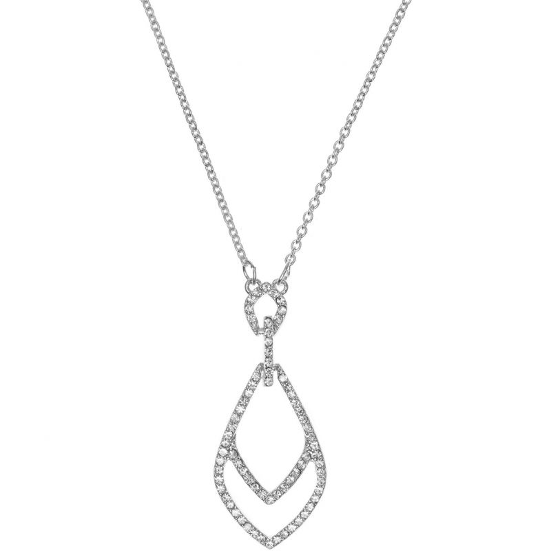 Ladies Anne Klein Silver Plated Socialite Necklace 60440102-G03