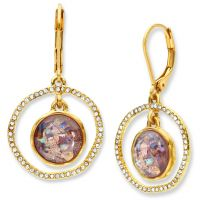 Ladies Lonna And Lilly Gold Plated Gold Standard Earrings 60441197-E50