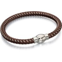 Mens Fred Bennett Stainless Steel & Nylon Bracelet B4732