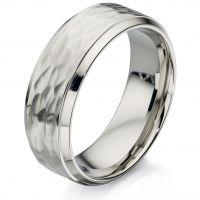 Herren Fred Bennett Edelstahl Ring Größe R.5