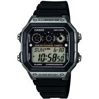 Herren Casio World Zeit Wecker Chronograf Uhr