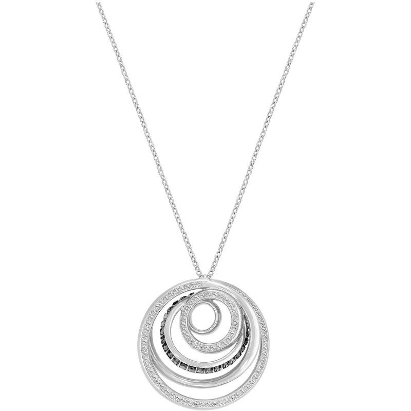 Ladies Swarovski Rhodium Plated Dynamic Pendant 5266933