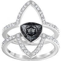 Damen Swarovski Rhodium Plated Größe N Fantastic Ring