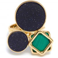 femme Lola Rose Jewellery Malachite & Blue Sandstone Garbo Cluster Ring Watch 583916