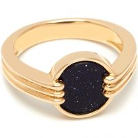 Ladies Lola Rose Gold Plated Blue Sandstone Garbo Mini Ring 583671