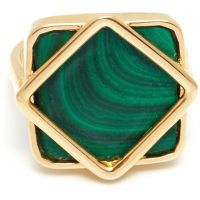 femme Lola Rose Jewellery Malachite Garbo Square Ring Watch 583558
