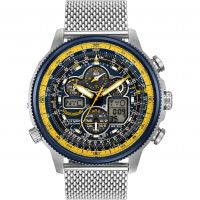 homme Citizen Navihawk A-T Blue Angels Alarm Chronograph Radio Controlled Watch JY8031-56L