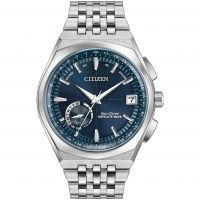Mens Citizen Satellite Wave-World Time GPS Radio Controlled Eco-Drive Watch