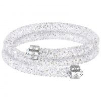 Ladies Swarovski Rhodium Plated Crystaldust Bangle