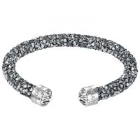Ladies Swarovski Rhodium Plated Crystaldust Cuff