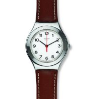 Unisex Swatch Strictly Silver Watch YGS131