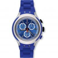 Unisex Swatch Blue Attack Chronograph Watch