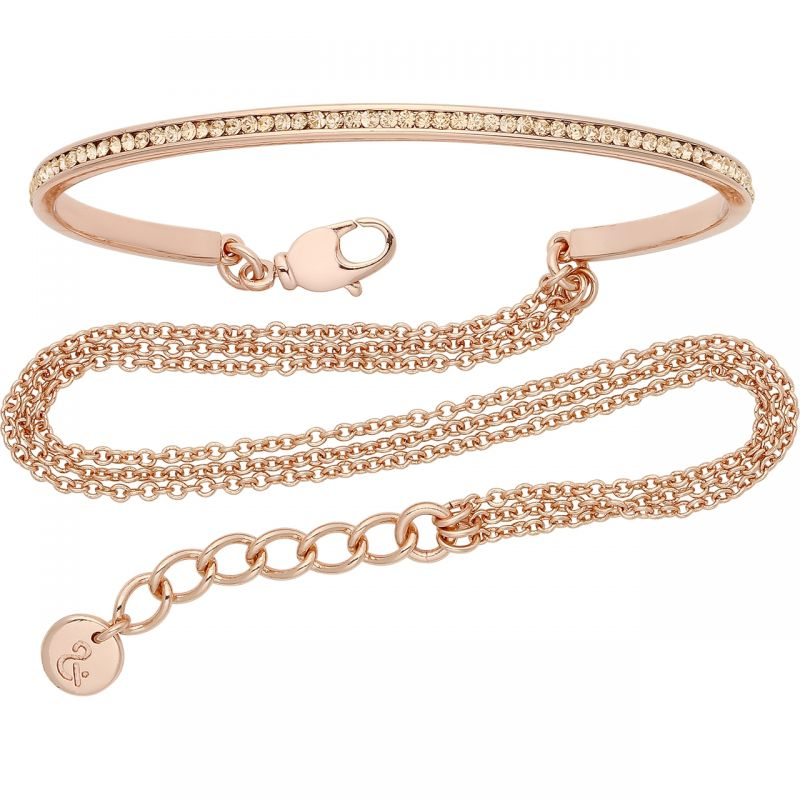 Ladies Lola & Grace Rose Gold Plated Slim Line Double Wrap Cuff 5167857