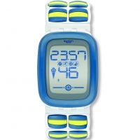 Mens Swatch Cubezero S Alarm Watch