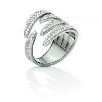 Damen Folli Follie Sterlingsilber Fashionably Silber Verpackung Sparkle Ring Größe L.5