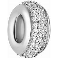 Damen Verbindungen Of London Sterlingsilber Pave Rondel Weiß Diamant Pave Perle