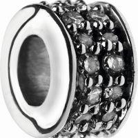 Damen Verbindungen Of London Sterlingsilber Pave Rondel Diamant XS Pave mini Perle