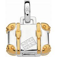 Damen Verbindungen Of London Sterlingsilber Wanderlust Andenken Suitcase Medaillon Anhänger